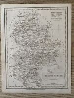 1833 BEDFORDSHIRE ORIGINAL ANTIQUE COUNTY MAP BY SIDNEY HALL 186 YEARS OLD