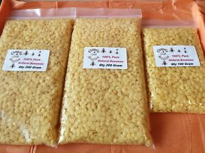 100% Pure ,Yellow Cosmetic Grade Beeswax Pellets ,sample 25g @ £1.49