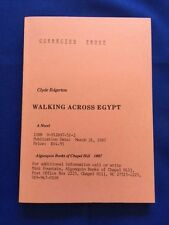 WALKING ACROSS EGYPT - UNCORRECTED PROOF SIGNED BY CLYDE EDGERTON
