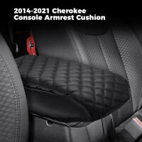 Console Armrest Cushion For Jeep Cherokee 2014-2021 Leather Armrest Cover