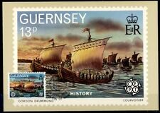 Flotte von Wilhelm dem Eroberer, Herzog der Normandie.Maximumkarte.Guernsey 1982