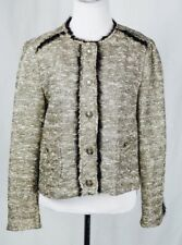 Zara Basic Collection Gold Tweed Boucle Blazer Jacket Size US Large