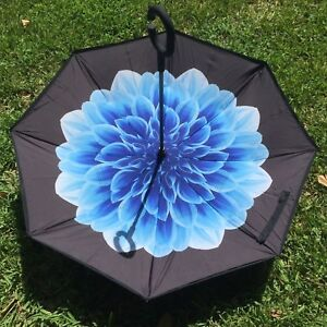 Reverse Opening Inverted Inside-Out/Upside Down/ C-Handle Umbrella Sale