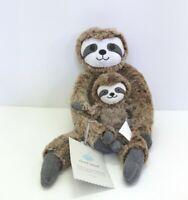Cloud Island Mama & Baby Sloth Plush Toy and Rattle Set