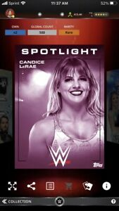 Topps WWE Slam *Digital* 2019 Spotlight Pink Base - Candice LeRae 500cc
