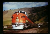 1973 Duplicate Slide of WP California Zephyr at Fremont, CA in 1970  aa 3-27a