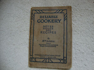 CLASSIC OLD Cookery book from the 1920's