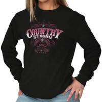 Country Strong Shirt for Women | Rodeo Western Cowgirl Truck Long Sleeve Tee