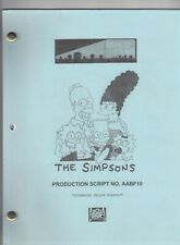 "THE SIMPSONS show script ""Screaming Yellow Honkers"""