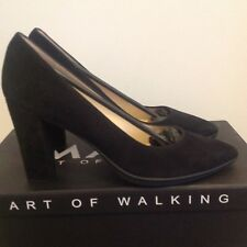 WOMANS MARC VANESSA, BLACK SUEDE CLOSED PUMPS SHOES SIZE UK 6.5 EURO 39