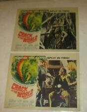1964 Paramount Pictures Sci-Fi Film Crack In The World Set Of 2 Lobby Cards