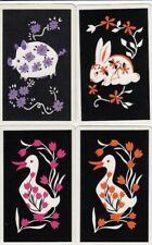 VINTAGE SWAP PLAYING CARDS - 4 SINGLE - RABBITS
