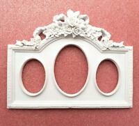 Moule Silicone 35x17cm Cadre Miroir Fleur Noeud pour Plâtre Argile Resine Savon