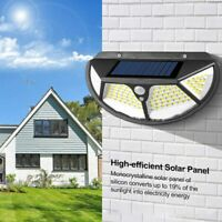 102/122 LED Solar Security Light PIR Sensor Waterproof Garden Porch Wall Lamp