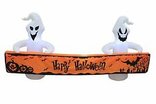8 Foot Long Halloween LED Inflatable Ghosts and Banner Yard Art Prop Decoration