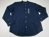 NEW Gap Button Up Shirt Adult Extra Large Blue Long Sleeve Cotton Casual Mens