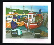 Lunch Break/Fishing/Boat/N/Irish Art Group/Fine Print/Martin Laverty/Ireland/New