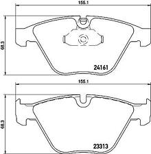 Hella Pagid Front Brake Pads fits BMW 3 Series E90 330d 335i 330i