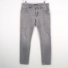 D&G DOLCE AND GABBANA Jeans Herren grau Gr. DE 48  100% Baumwolle Unterteil Cott