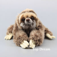 Simulation Animal Cuddly Three Toed Sloth Plush Toy Stuffed Doll Teddy 12'' Gift