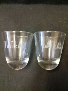 Fascinating Russian wobble bottom Baikal clear Shot Glass.