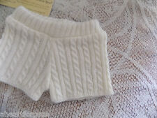 American Girl SHORTS CABLE KNIT CREAM fr WINTER WHITE OUTFIT HTF alone! RETIRED
