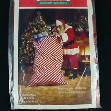 Hallmark Jumbo Plastic Gift Bag With Tag And Yarn Tie Sealed Vintage 40 X 54 In.