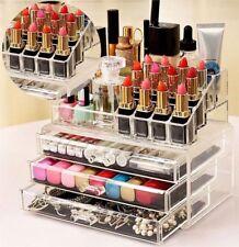 Espositore porta cosmetici creme trucchi box organizer rossetto mascara make up
