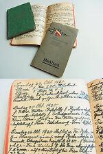 3 Tagebücher ULM 1918-20 / METHODISTEN-Prediger August BARNIKEL (1868-1937)