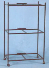 "3 Tiers Stand With Wheels for 30'x18'x18"" ; Aviary Bird Cages Black"