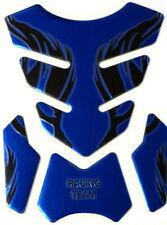 Tank Pad Protection Motorcycle 3D Universal Blue Gloss Honda Suzuki