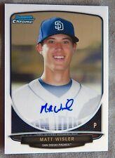 San Diego Padres Matt Wisler 2013 Bowman Chrome Auto Card