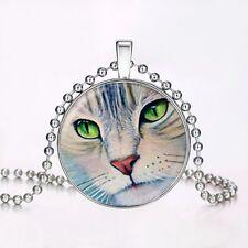 Cute Cat Glow in the Dark Necklace Pendant Chain Xmas Halloween Xmas Jewellery