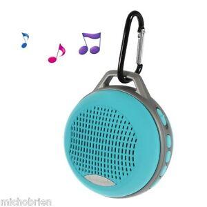 Bluetooth Sport Travel Outdoor Wireless Speaker + Hands Free Calls Aqua Blue