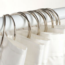 """Stainless Steel & Metal """"O"""" Rings Shower Curtain Rings/Hooks New Free Shipping"""