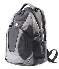 "18""BIG BRAND NEW LAPTOP BACKPACK,COLLEGE SCHOOL BAG BLACK/GREY 10001"