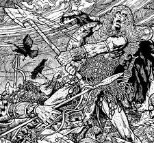 IRISH FANTASY ART PRINT Warrior Madness 23x16 By Jim FitzPatrick. Comic art