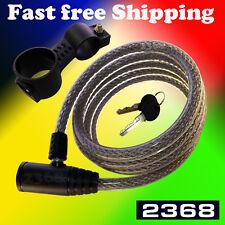 72 Inch Heavy Duty Bike Motorcycle Cable Lock Silver