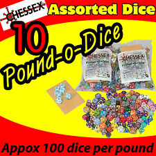 10 POUND OF DICE BAG CHESSEX GAME ASSORTED AD&D ROLE PLAYING COLLECT CHX001LB-10