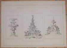 RICORDI DI ARCHITETTURA GALLERIA DI FIRENZE VASCA PROGETTO FONTANA TRIBOLO 1878