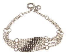B-08 Bracelet Vintage Style New Antiqued Silver Chain, Handmade in Usa 7.5 inch