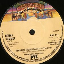 """DONNA SUMMER down deep inside (theme from the deep) CAN111 uk 1977 7"""" WS EX/"""
