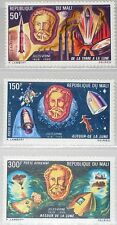MALI 1970 224-26 C90-92 Jules Verne Moon Rocket Space Weltraum Raumfahrt MNH