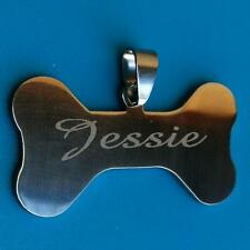 Personalised Custom Name ID Tag Free Engraving Bone Shape Dog Cat Puppy Pet Tags