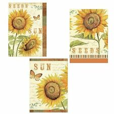 Sunflowers 3 Sun Flower Sunshine Seeds Wallies Peel n Stick Wall Decals Stickers