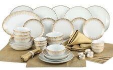Kombiservice Geschirr CHRISTMAS GOLD 50tlg 6 Pers. Porzellan Weiß&Gold Weihnacht