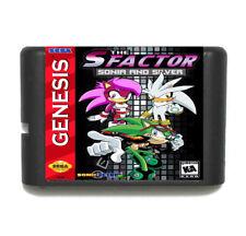 Games Cartridge - Sonia And Silver 16 Bit MD Sega Mega Drive Genesis