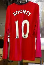 NWT Authentic Nike 2009 Manchester United Player Issue Rooney  L/S Jersey L