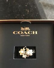 COACH BLOOMING FLORAL CLUSTER RING NWT 27175 SIZE 8 GIFT BOX SIGNATURE