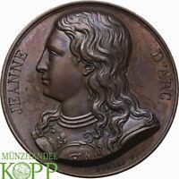 AB0996) FRANKREICH Bronzemedaille 1823 Jeanne D`Arc